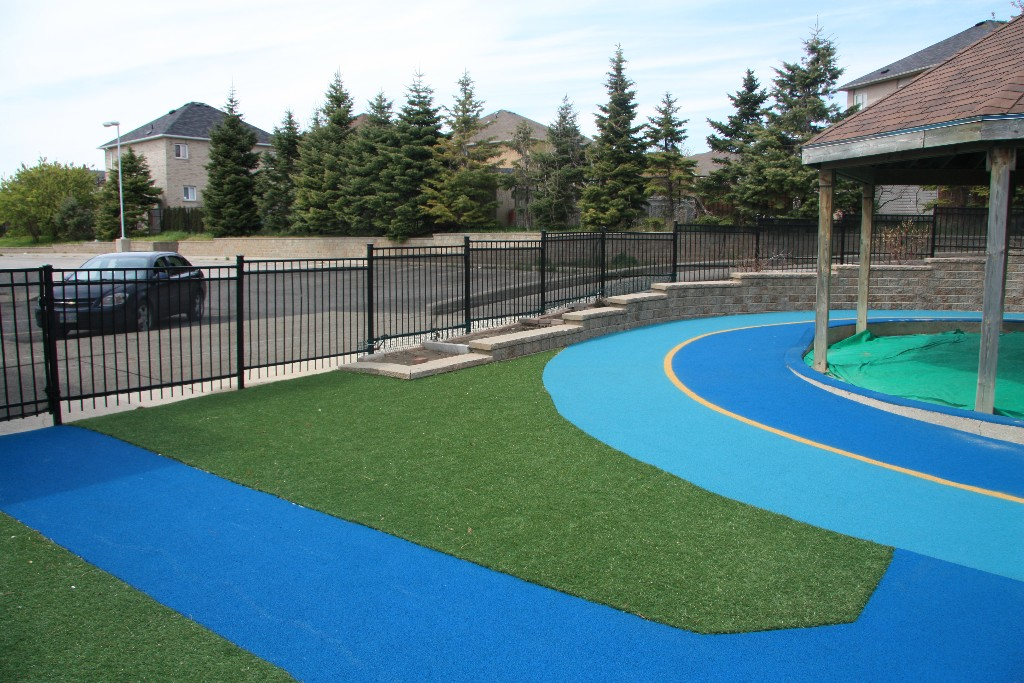 Artificial Grass, Rubber Surfacing, and Bike Path
